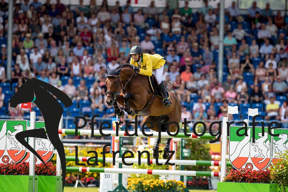 MANSUR Yuri (BRA), Ibelle van de Grote Haart<br /> Aachen - CHIO 2018<br /> Preis von Nordrhein-Westfalen<br /> 20. Juli 2018<br /> © www.sportfotos-lafrentz.de/Stefan Lafrentz