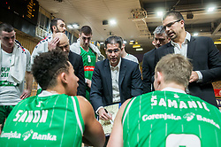 Aleksandar Saso Nikitovic, coach of Petrol Olimpija during basketball match between KK Ilirija and KK Petrol Olimpija in Round #8 of Liga Nova KBM 2018/19, on December 4, 2018 in Arena Tivoli, Ljubljana, Slovenia. Photo by Vid Ponikvar / Sportida
