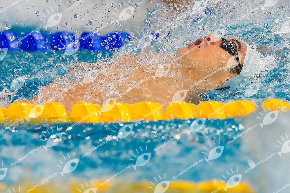 Rosioru Paul Andrei ROU<br /> 100 Backstroke Men Heats<br /> LEN 43rd Arena European Junior Swimming Championships<br /> Hodmezovasarhely, Hungary <br /> Day01 06-07-2016<br /> Photo Andrea Masini/Deepbluemedia/Insidefoto