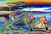 Wrecks on Mull beach