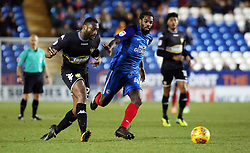 Anthony Grant of Peterborough United chases down Nathan Cameron of Bury - Mandatory by-line: Joe Dent/JMP - 23/12/2017 - FOOTBALL - ABAX Stadium - Peterborough, England - Peterborough United v Bury - Sky Bet League One