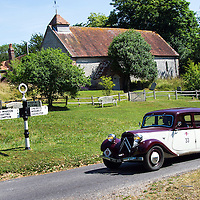 Tony Mather and Pauline Mather in their Citroen Traction Avant on the Royal Automobile Club 1000 Mile Trial 2015