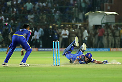 April 22, 2018 - Jaipur, Rajasthan, India - Rajasthan Royals batsman Ben Stokes run during the IPL T20 match against  Mumbai Indians  at Sawai Mansingh Stadium in Jaipur on 22 April,2018.(Photo By Vishal Bhatnagar/NurPhoto) (Credit Image: © Vishal Bhatnagar/NurPhoto via ZUMA Press)