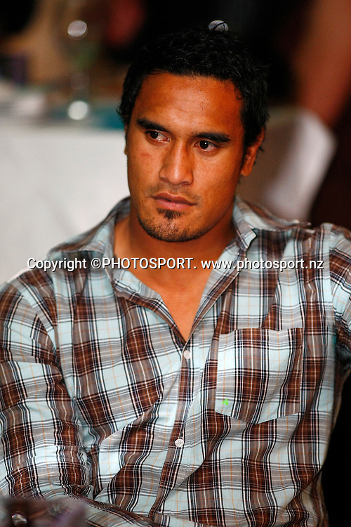 Jerome Kaino. Sport Auckland Sporting Excellence Awards, 11 December 2008. Tasman Room, Alexandra Park Function Centre, Auckland, New Zealand. Photo: Simon Watts/PHOTOSPORT