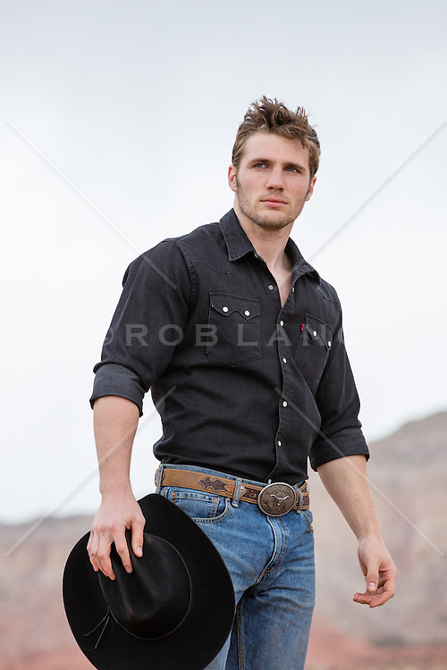 rugged cowboy on a ranch