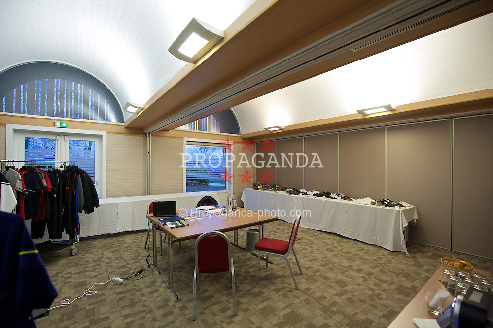 LENS, FRANCE - Wednesday, January 27, 2016: Convivalite room at the Novotel Lens Novellas during an inspection visit ahead of the UEFA Euro 2016 Tournament. (Pic by David Rawcliffe/Propaganda)