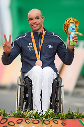 Podium, JEANNOT Joel, H4, FRA, Cycling, Road Race, Bronze, Medal à Rio 2016 Paralympic Games, Brazil