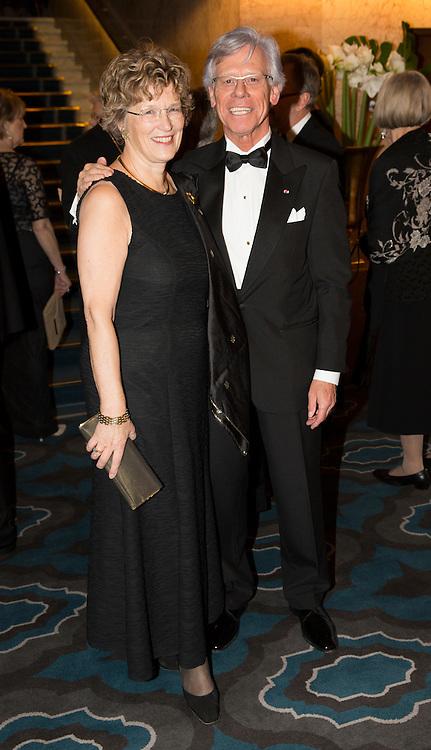OSLO,  20131210:  Nobel Fredspris bankett på Grand Hotel.  Knut Vollebæk og hans kone Ellen Sofie Aadland Vollebæk. FOTO: TOM HANSEN