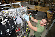 Senior Undergraduate Mechanical Engineering major Colton Nissen works on....at the Institute for Sustainable Energy and the Environment. Photo by Ben Siegel  Photo by Ben Siegel