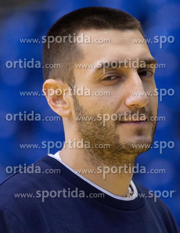 Dragan Gajic of Slovenia during practice session of Slovenia National Handball team during Main Round of 10th EHF European Handball Championship Serbia 2012, on January 21, 2012 in Spens Sports Center, Novi Sad, Serbia. (Photo By Vid Ponikvar / Sportida.com)
