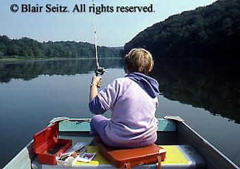 Outdoor recreation, Fishing, PA Park Lake, Female Teen,