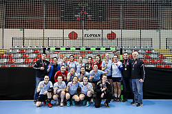 Players of ZRK Z Dezele on third place during handball match between RK Ljubljana and ZRK Z Dezele in Bronze Medal game of Slovenian Women Handball Cup 2017/18, on April 1, 2018 in Park Kodeljevo, Ljubljana, Slovenia. Photo by Matic Klansek Velej / Sportida