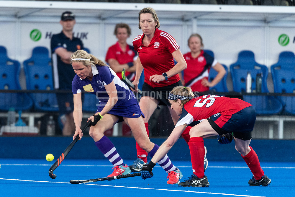 Cambridge City v Sevenoaks - Investec Women's O45s T1 Final, Lee Valley Hockey & Tennis Centre, London, UK on 05 May 2018. Photo: Simon Parker