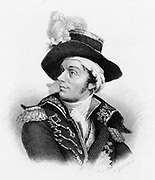 Francois Athanase Charette (1763-96) French royalist counter-revolutionary leader. Shot by republican general Lazare Hoche. Engraving.