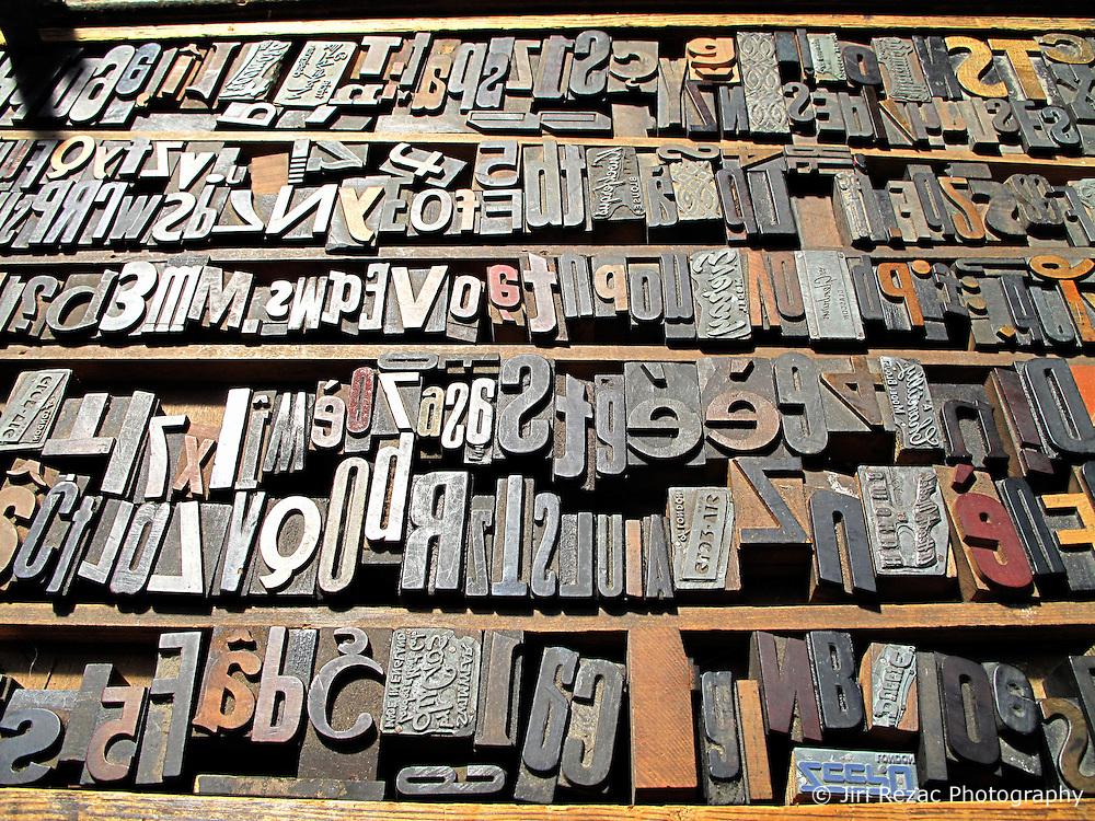 UK ENGLAND LONDON APR11 - Old typeset letters on sale at a stall in Spitalsfields Market, east London.....jre/Photo by Jiri Rezac....© Jiri Rezac 2011