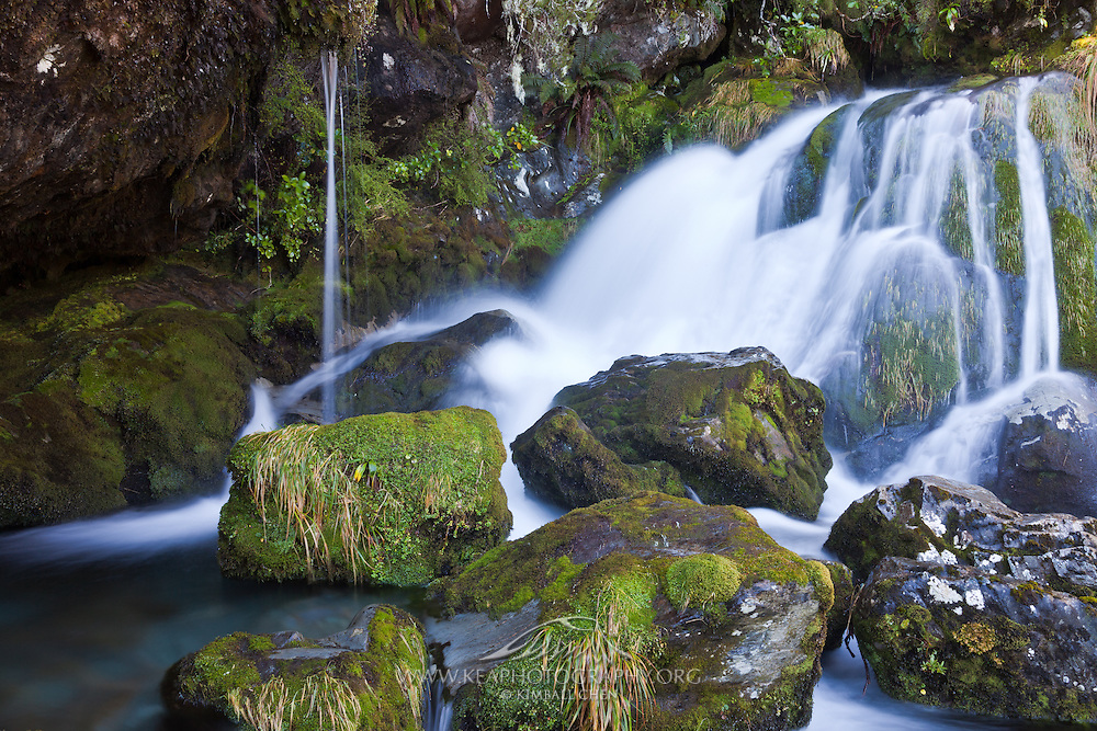 Waterfall, Routeburn Track, Fiordland, New Zealand