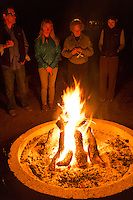 Backroads Trip Evening Campfire at Thunderbird Ranch, Healdsburg, California