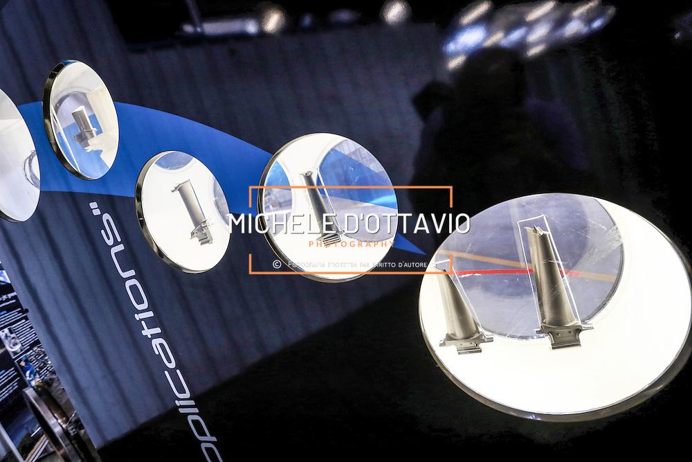 Componenti prodotti esposti in showroom all'interno dello stabilimento Avio di Rivalta (TO)<br /> <br /> <br /> Components products displayed in showrooms in the factory Avio Rivalta (TO) ITALY