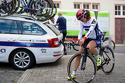 Joëlle Numainville (Cervélo Bigla) prepares for the stage start at Thüringen Rundfarht 2016 - Stage 1 a 67km road race starting and finishing in Gotha, Germany on 15th July 2016.
