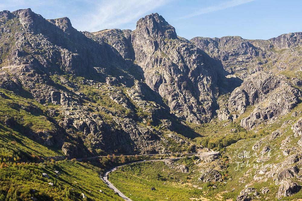 Highway N339 through the Parque Natural da Serra da Estrela, Portugal