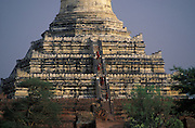 Monks make a pilgrimage to Shwesandaw Pagoda,built in A.D. 1057 by King Anawrahta.