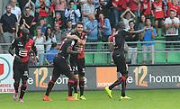 Fotball<br /> Frankrike<br /> 13.09.2014<br /> Foto: Panoramic/Digitalsport<br /> NORWAY ONLY<br /> <br /> but doucoure (rennes) joie<br /> <br /> Rennes vs Paris st Germain - Ligue 1