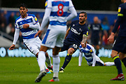County's Midfielder Bradley Johnson shoots during the EFL Sky Bet Championship match between Queens Park Rangers and Derby County at the Loftus Road Stadium, London, England on 6 October 2018.
