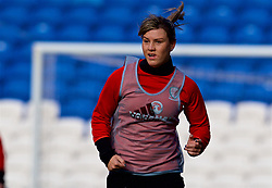 CARDIFF, WALES - Thursday, November 23, 2017: Wales' Gemma Evans during a training session ahead of the FIFA Women's World Cup 2019 Qualifying Round Group 1 match between Wales and Kazakhstan at the Cardiff City Stadium. (Pic by David Rawcliffe/Propaganda)