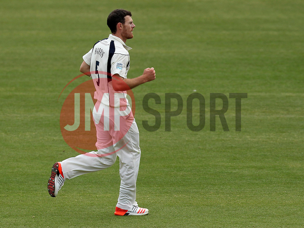 Middlesex's James Harris celebrates the wicket of Durham's Usman Arshad - Photo mandatory by-line: Robbie Stephenson/JMP - Mobile: 07966 386802 - 04/05/2015 - SPORT - Football - London - Lords  - Middlesex CCC v Durham CCC - County Championship Division One