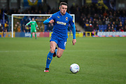 AFC Wimbledon midfielder Anthony Hartigan (8) dribbling during the EFL Sky Bet League 1 match between AFC Wimbledon and Blackpool at the Cherry Red Records Stadium, Kingston, England on 22 February 2020.