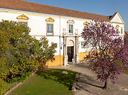 Frontage of University of Evora building, City of Evora, Alto Alentejo, Portugal, Southern Europe,