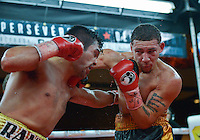 February 21, 2016: Will Madera (R) of USA lands a punch against Randy Lozano of Mexico during their super middleweight bout as part of the Fight Club 18 gala at the Hilton Lac Leamy in Gatineau, Quebec, Canada. (Photo by Steve Kingsman/Icon Sportswire)