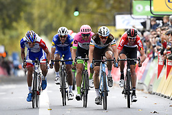 October 7, 2018 - Tours, France - TOURS, FRANCE - OCTOBER 7 : MADOUAS Valentin (FRA)  of FDJ, GILBERT Philippe (BEL)  of Quick - Step Floors, VANMARCKE Sep (BEL)  of Team EF Education First - Drapac p/b Cannondale, NAESEN Oliver (BEL)  of AG2R La Mondiale, BENOOT Tiesj (BEL)  of Lotto Soudal during the 112th edition of the Paris - Tours Elite cycling race with start in Chartres and finish in Tours on October 07, 2018 in Tours, France, 7/10/2018 (Credit Image: © Panoramic via ZUMA Press)