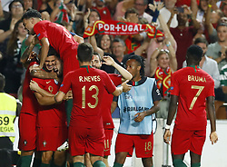 September 10, 2018 - Lisbon, Portugal - Portugal v Italy - UEFA Nations League.Andre Silva of Portugal celebrates with the teammates after the goal of 1-0 scored at Estadio da Luz in Lisbon, Portugal on September 10, 2018. (Credit Image: © Matteo Ciambelli/NurPhoto/ZUMA Press)