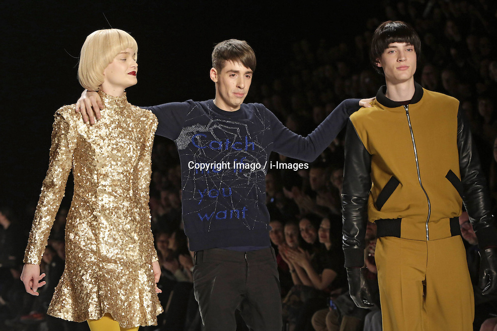 Designer Kilian Kerner with Models during the Autumn/Winter 2013 shows of the Mercedes-Benz Fashion Week, in Berlin, Germany,  January 14, 2013. Photo by Imago / i-Images...UK ONLY