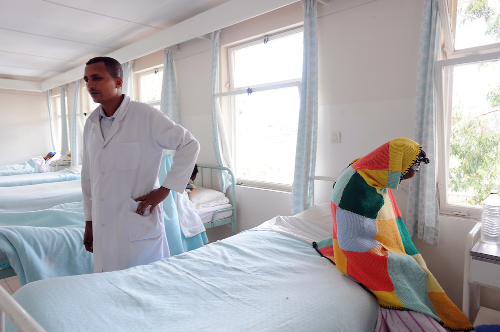 Almeye Tadesse (17) is seen by a doctor at the Bethlehem ward where she is recovering at the Fistula Hostital, Addis Ababa, Ethiopia.  Fistula is a condition caused by obstruced labour and can particularly affect young girls who are married too early. 6.08.2008