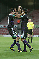 Football - UEFA Champions League 3rd Qualifying Round - The New Saint's vs. Anderlecht<br /> Anderlecht's Matías Suárez celebrates scoring his sides 3rd goal at the Racecourse Ground, Wrexham