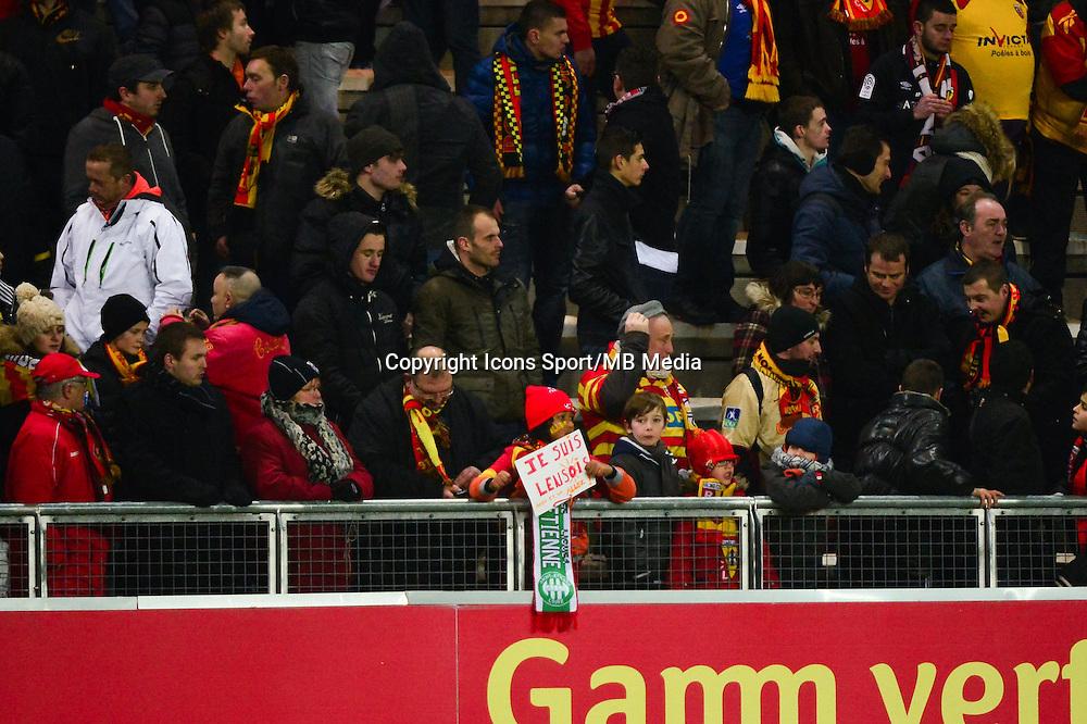 Supporters Lens - 17.01.2015 - Lens / Lyon - 21eme journee Ligue 1<br />Photo : Dave Winter / Icon Sport