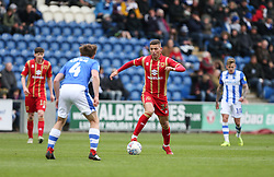 Stephen Walker of Milton Keynes Dons runs with the ball - Mandatory by-line: Arron Gent/JMP - 27/04/2019 - FOOTBALL - JobServe Community Stadium - Colchester, England - Colchester United v Milton Keynes Dons - Sky Bet League Two