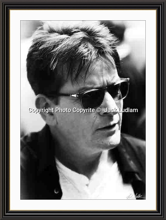 charlie  sheen London Mayfair Aug 2016 r<br /> Large A3 Museum-quality Archival signed Framed Print £650