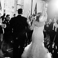 Erin and Joe enter their Brooklyn Wedding reception at the Green Building.