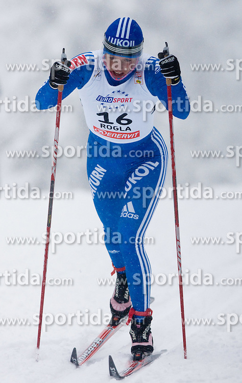 Natalia Korosteleva of Russia at Ladies 1.4 km Free Sprint Competition of Viessmann Cross Country FIS World Cup Rogla 2009, on December 19, 2009, in Rogla, Slovenia. (Photo by Vid Ponikvar / Sportida)