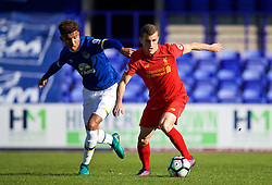 BIRKENHEAD, ENGLAND - Sunday, October 23, 2016: Liverpool's Brooks Lennon in action against Everton during the Mini-Derby FA Premier League 2 Under-23 match at Prenton Park. (Pic by David Rawcliffe/Propaganda)