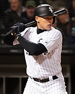 CHICAGO - APRIL 23:  Trayce Thompson #32 of the Chicago White Sox bats against the Seattle Mariners on April 23, 2018 at Guaranteed Rate Field in Chicago, Illinois.  (Photo by Ron Vesely)   Subject:   Trayce Thompson