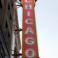 Chicago Theatre sign marquee picture. Chicago Theatre is a Chicago Landmark and is listed with the National Register of Historic Places.