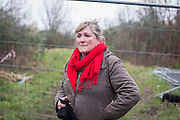 UNITED KINGDOM, London: 02 February 2016 Campaigner Emma Wilkinson, from the Save Southwark Woods campaign, cries with anger in Camberwell Old Cemetery as they remonstrate with community wardens. Save Southwark Woods are protesting about tree felling in the cemetery, which they claim is on consecrated and protected land. Rick Findler / Story Picture Agency