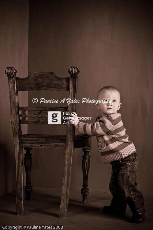 A client couple brought their young toddler in. The little boy had just started walking and they wanted it captured