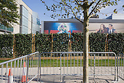Aspirational poster landscape adorning walls at Westfield City shopping centre in Stratford, home of the 2012 Olympics.