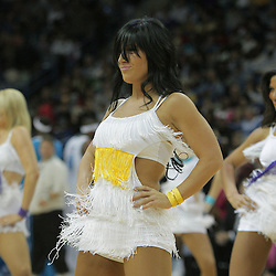 06 December 2008:  New Orleans Hornets Honeybee dancers perform during a 106-87 win by the New Orleans Hornets over the Memphis Grizzlies at the New Orleans Arena in New Orleans, LA..