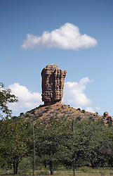 NAMIBIA DAMARALAND APR14 - The Vingerklip (Finger of Stone) sandstone monument at the Vingerklip Lodge near Outjo, Namibia.<br /> <br /> <br /> <br /> jre/Photo by Jiri Rezac<br /> <br /> <br /> <br /> © Jiri Rezac 2014